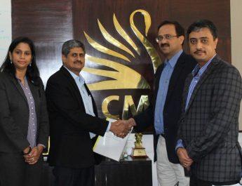 Sayee Bhuvaneswari VP - Sales COE - Ananthanarayanan Subramanian - CEO MD Dr Sanjay Chitnis - Principal Mahesh N - Placement Director CMRIT