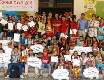 School children at Honda Road Safety Summer Camp - Honda Traffic Training Park - Jaipur