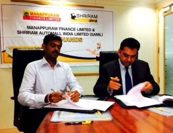 Shriram Automall inks tie-up with Manappuram Finance