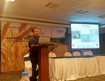 TheAgrihub CEO - Mr Rajeeb Roy at the Farmers Technical Training Program held in Bangalore