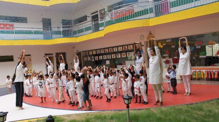 Trio Tots Celebrate International Yoga Day - Bengaluru