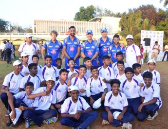 Videocon d2h - Mumbai Indians coaching clinic session