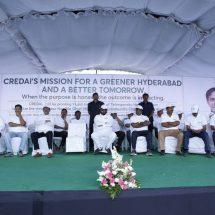 "CREDAI Hyderabad plants 1,00,000  saplings under ""Telangana Ku Haritha Haram"" Programme"
