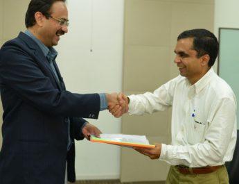Dr Sanjay Chitnis - Principal - CMRIT and Sanjeev Sukumaran Co-Founder of Sherpify