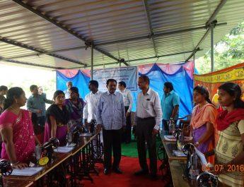Gangavaram Port Management distributes free sewing machines and certificates to women