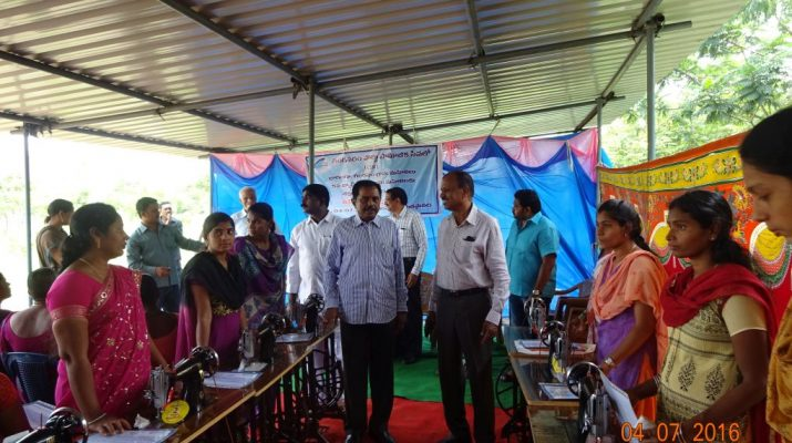 Gangavaram Port Management distributes free sewing machines and certificates to women