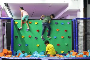 Kids enjoying Trampoline at Smaaash on their 1st anniversary celebrations