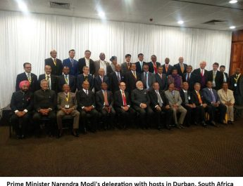 Prime-Minister-Narendra-Modis-delegation-with-hosts-in-Durban-South-Africa2