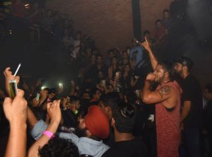 Rapper Raftaar Performing at Raftaar High Speed Lounge