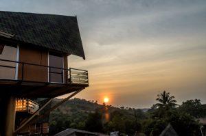Rumourss Sky Villa - Sunset from the balcony