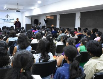 Students of Times and Trends Academy at the induction program