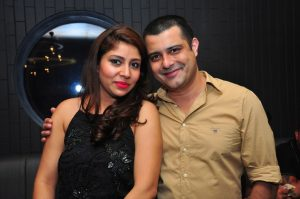 Sunny Singh with his wife Tina Singh