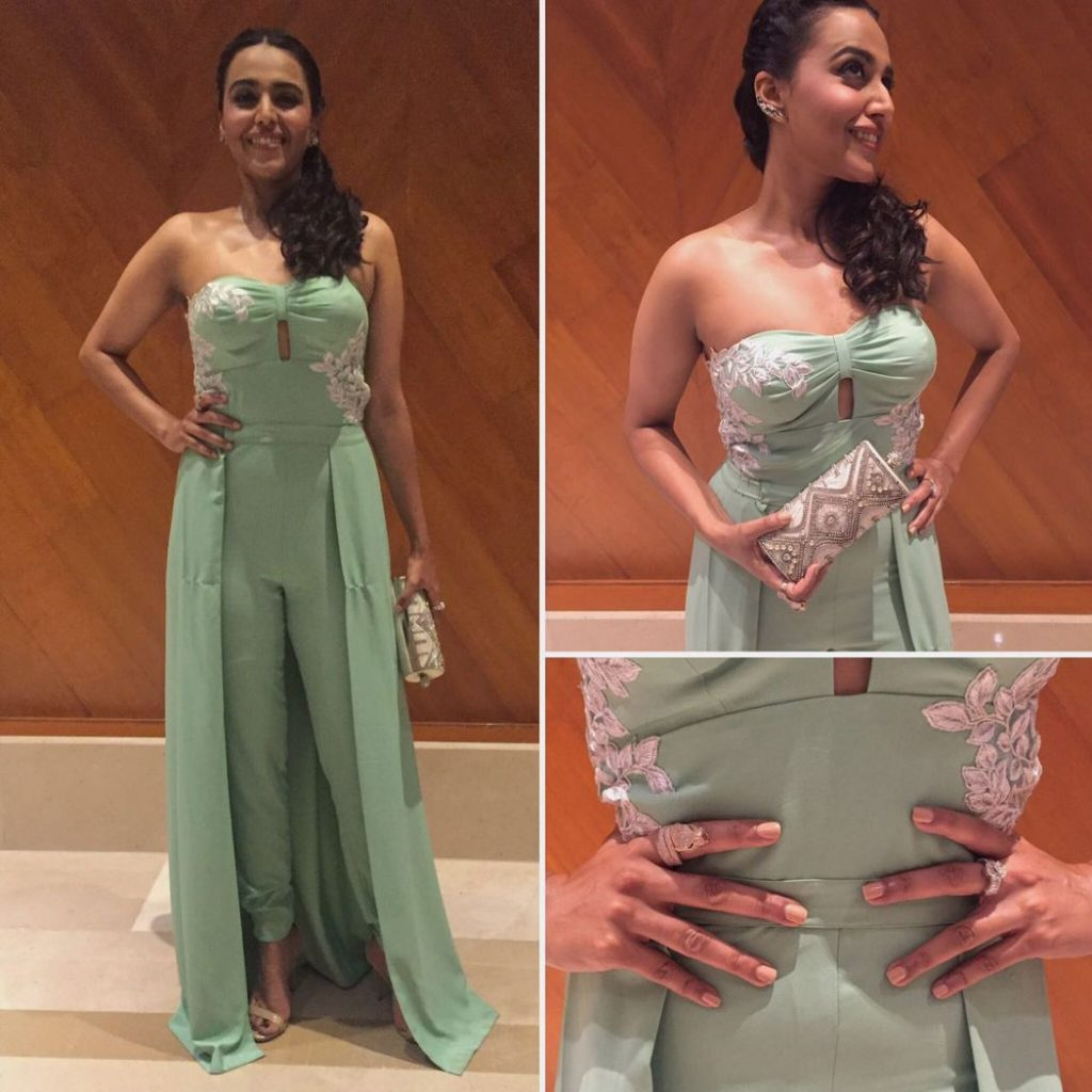 Swara Bhaskar was recently spotted wearing Minawala jewellery