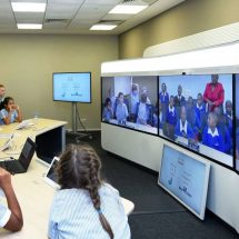 UAE Students Engage Live with their Kenyan Counterparts through Cisco Telepresence