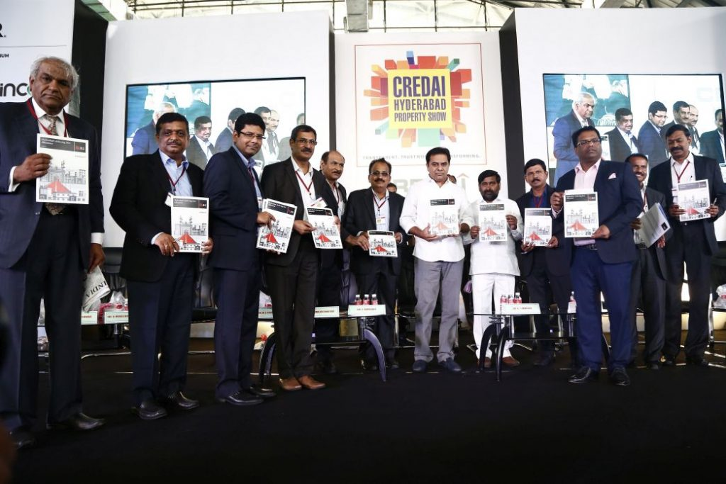 Launch of JLL Report by KTR Rao and CREDAI Office Bearers
