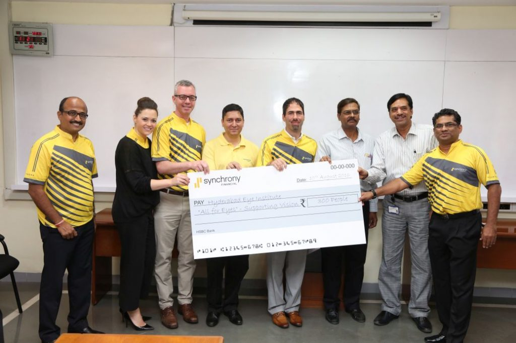 Synchrony Financial contributes for vision to 300 people at  Hyderabad Eye Institute LVPEI  as a part of All For Eyes Campaign