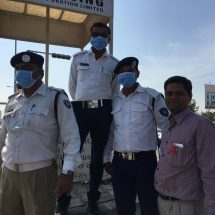 Columbia Asia Hospitals, Ahmedabad Distributes Masks to Traffic Personnel Operating in High Pollution Zones