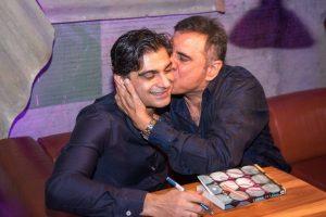 Anosh Irani and Boman Irani at the book launch of The Parcel