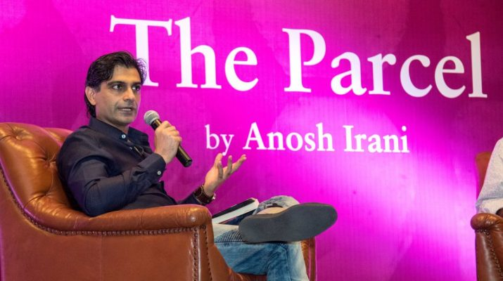 Anosh Irani at the book launch of The Parcel