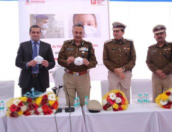 From left to right Mr Apul Nayyar, Executive Director Capital First_ Mr. Ajai Kashyap, Special Commissioner of Police Traffic_ Mr B K Singh Additional Commissioner of Police Traffic_ Mr Rupinder Kumar, Additional Commissioner
