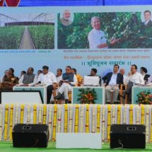 Chief Minister Sri Devendra Fadnavis Performs Ground Breaking Ceremony For Jain Farm Fresh Foods-Hindustan Coca Cola Orange Unnati Project