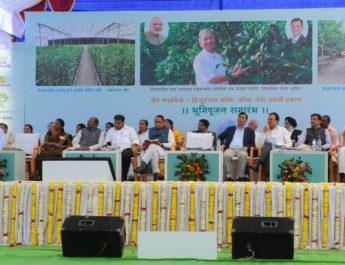 Chief Minister Sri Devendra Fadnavis Performs Ground Breaking Ceremony For Jain Farm Fresh Foods - Hindustan Coca Cola Orange Unnati Project