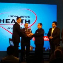 Dr Dharminder Nagar adjudged 'Healthcare Entrepreneur of the Year 2016' at India News Health Awards