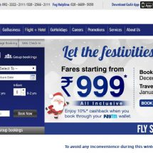 GoAir's Christmas Campaign, fares starting at Rs 999 – all-inclusive