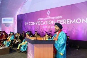 Gurmit Singh addressing the conference at JLU