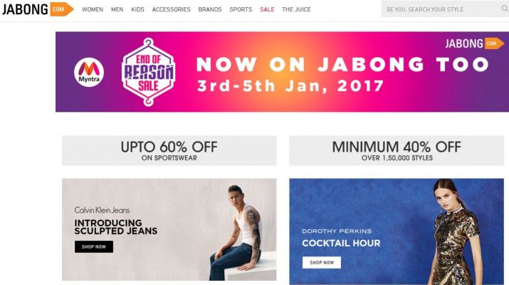 Jabong - Home Page - Sale
