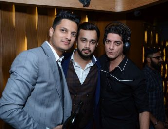 Lto R -Abhimanyu Boken - Harshit Arora - owners and Dj Aqeel