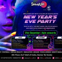 Welcome 2017 with a blast at SMAAASH, Noida