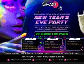 Noida Carnival party - New Year Eve 2017 party - MALL OF INDIA Smaaash