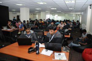 Participants at Indias firt ever Bothathon presented by Haptik