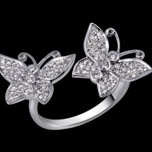 Quirky white gold rings collection from Minawala