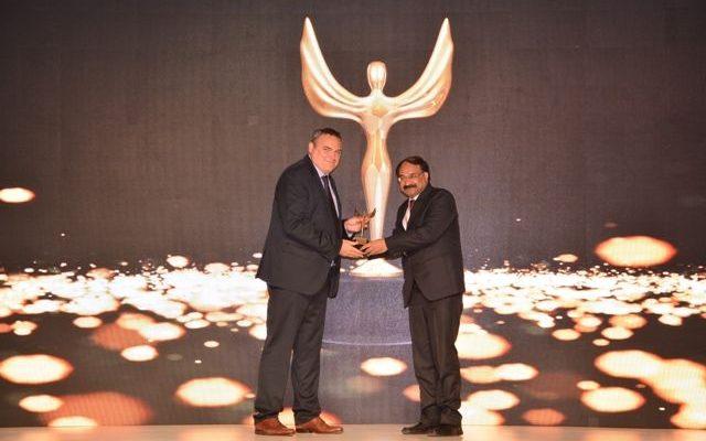 The awardpresented to Mr. Navneet Kumar Sharma - Head-IT - Intex Technologies