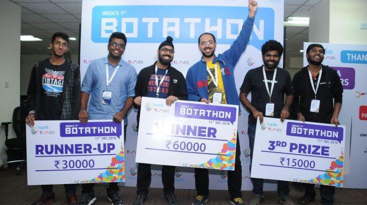 Winners of the Botathon presented by Haptik