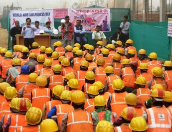 World Aids Day 2016 celebrations at Emaar India project site