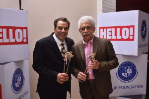 Actors Dharmendra and Naseeruddin Shah at URJA Awards 2017 in association with Hello