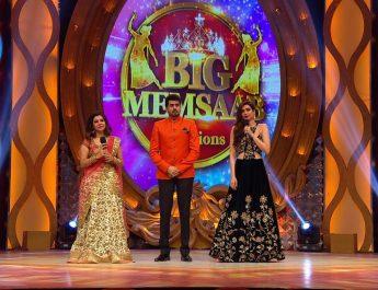L-R - Sambhavna Seth - Pritam Singh and Karishma Tanna on the sets of BIG Memsaab_BIG Magic