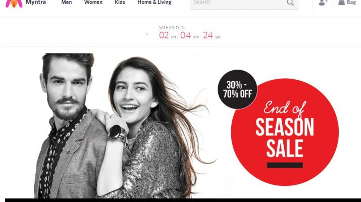 Myntra - Home Page - Website