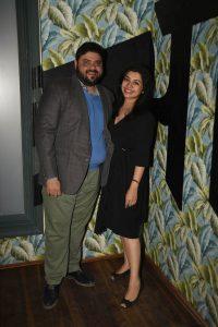 Riyaaz Amlani and Kiran Amlani at the launch of Versova Social