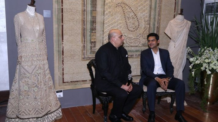 Tarun Tahiliani and Rudra Chatterjee Chairman OBEETEE