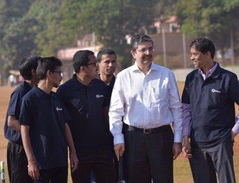 Uday Kotak - EVC and MD - Kotak Mahindra Bank interacts with visually challenged cricketers of Maharashtra team