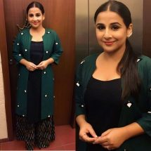 Spotted: Vidya Balan in WOODS shoes & Minawala Jewelry