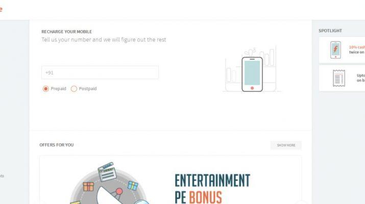 freecharge - Home Page
