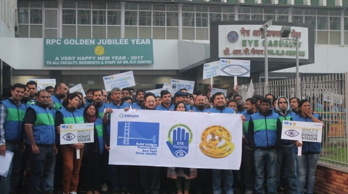 350 employees of Allergan India pledge to donate eyes at AIIMS