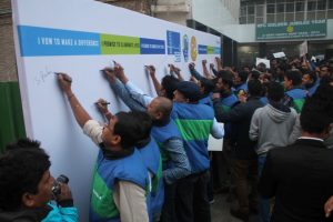 600plus employees of Allergan at AIIMS to support the campaign