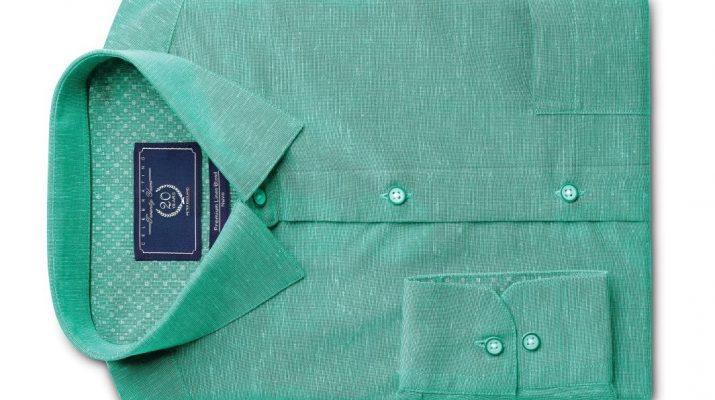 Aqua Green Shirt from Forma-Linens collection by Peter Englnd_Rs 1599