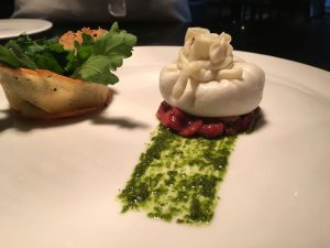 Burrata cheese with strawberry confit2